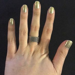 Tiffany & Co. Authentic Silver Mesh Ring
